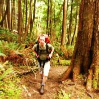 Uphill we go! Climbing Tillamook Head.